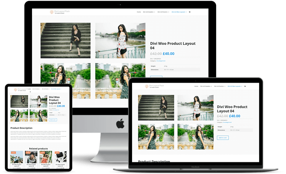Woo Layouts for Divi 4