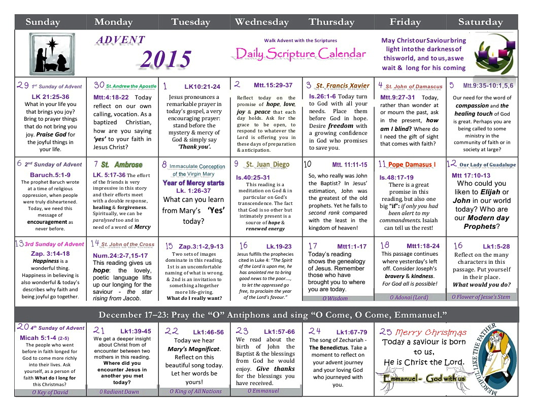 Scripture Advent Calendar