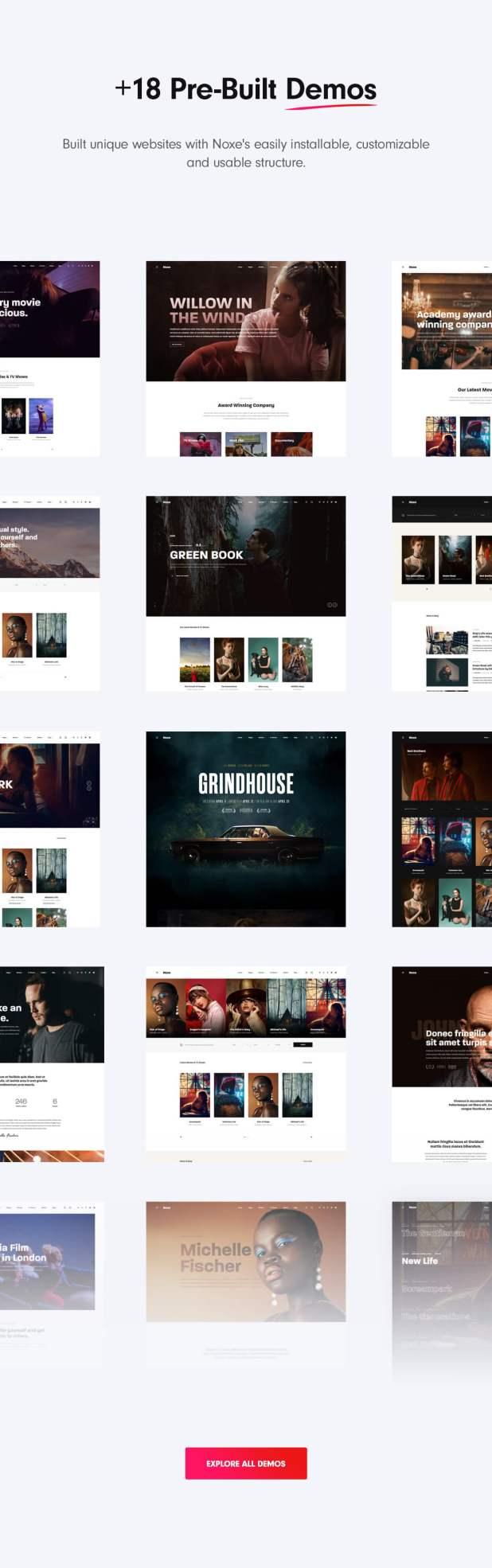 WordPress movie studios theme