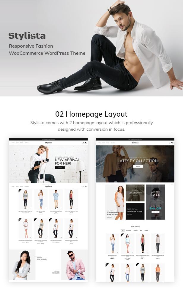 Stylista - Responsive Fashion WooCommerce WordPress Theme - 5