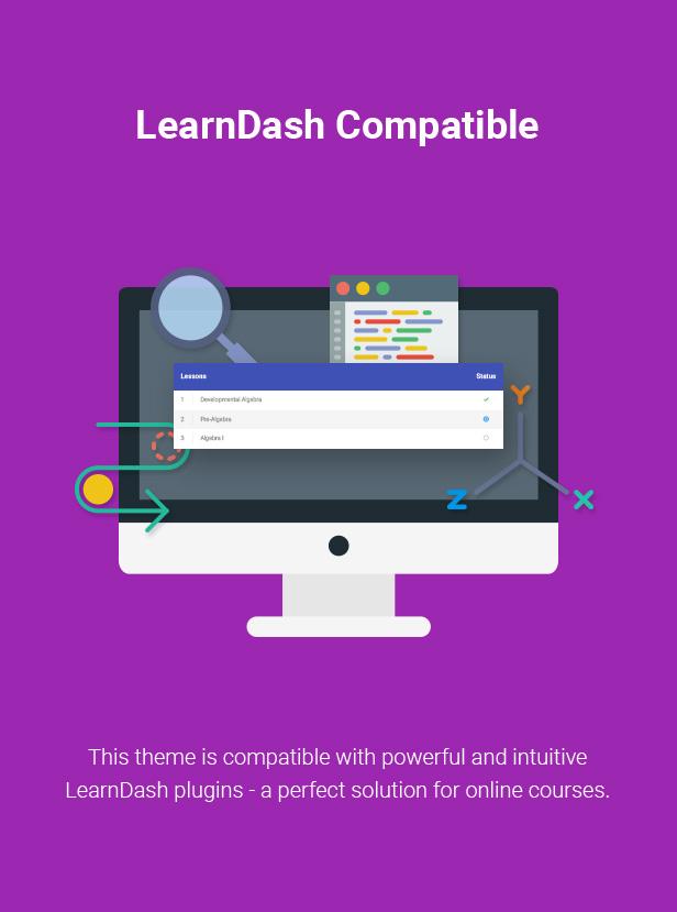 learndash compatibility for wordpress theme