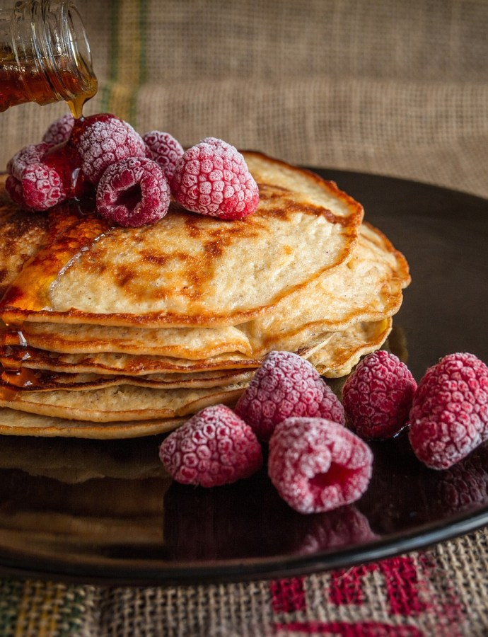 Pancakes and Rasberries