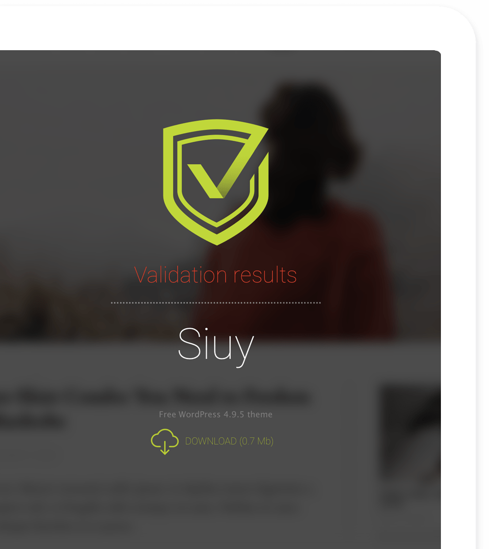 Siuy Themecheck validated