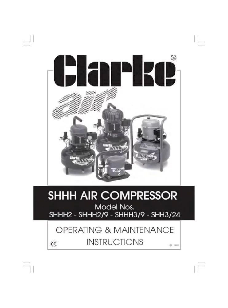Shhh Air Compressor Clarke Service