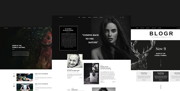 BLOGR ? PSD template for Special BLOGGERS