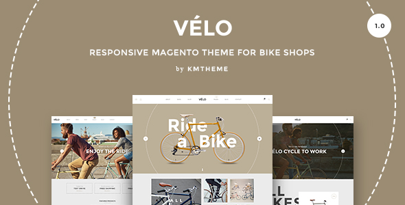 Velo? Responsive Magento Theme for bicycle stores