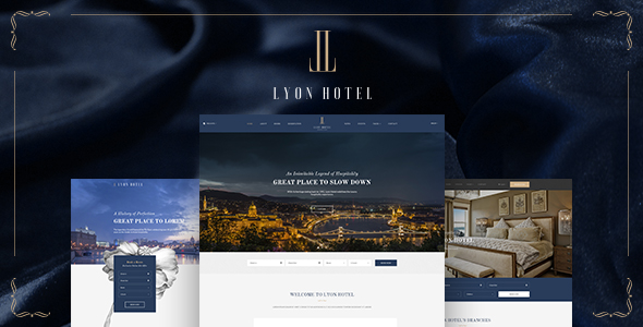 LYON - Luxury Hotel Booking HTML5 Template