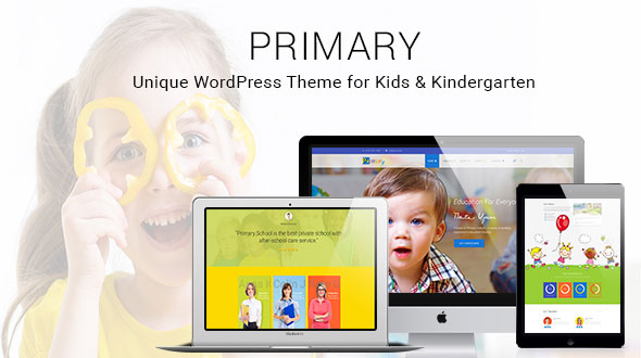 Primary - Kids and School WordPress Theme | Education Material Design WP