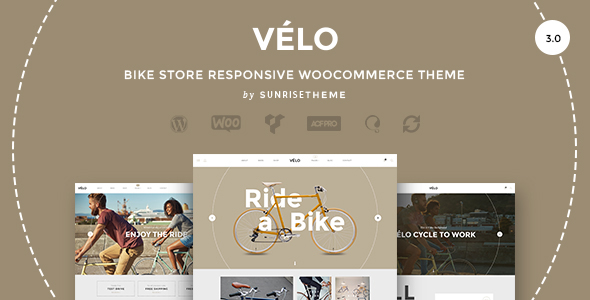 velo bike shop e-commerce theme