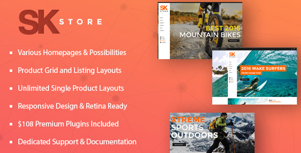 SK Store - Responsive Store WP Theme for Sports and Athletes