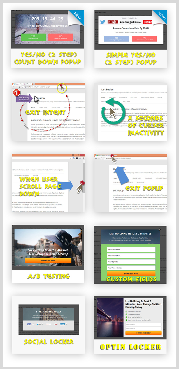 List Fusion - Best PopUp and Lead Generation Plugin - 5