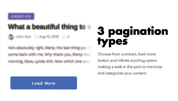 Diginex has pagination options