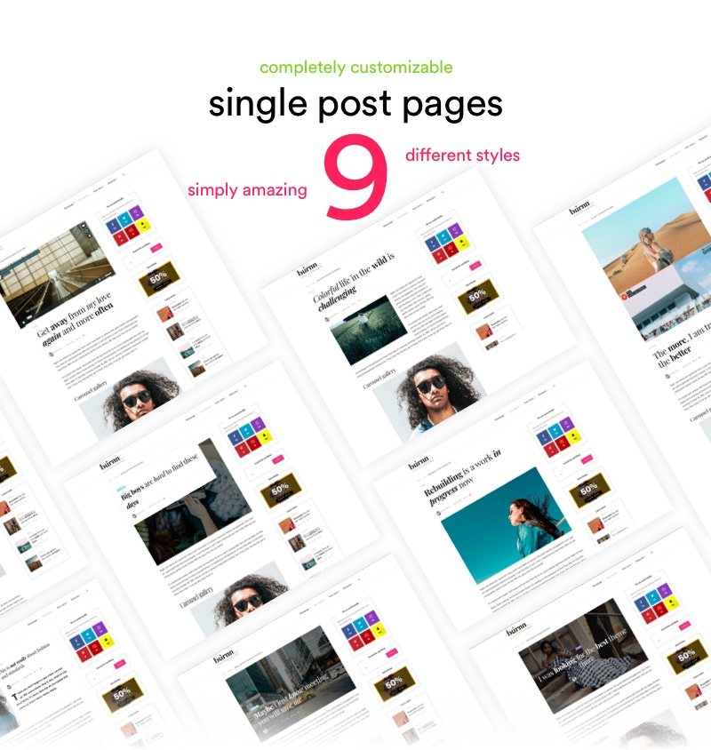 9 single post styles