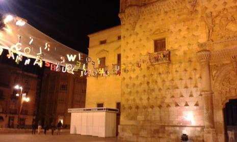 Fotografía del exterior del Palacio del Infantado (Guadalajara)