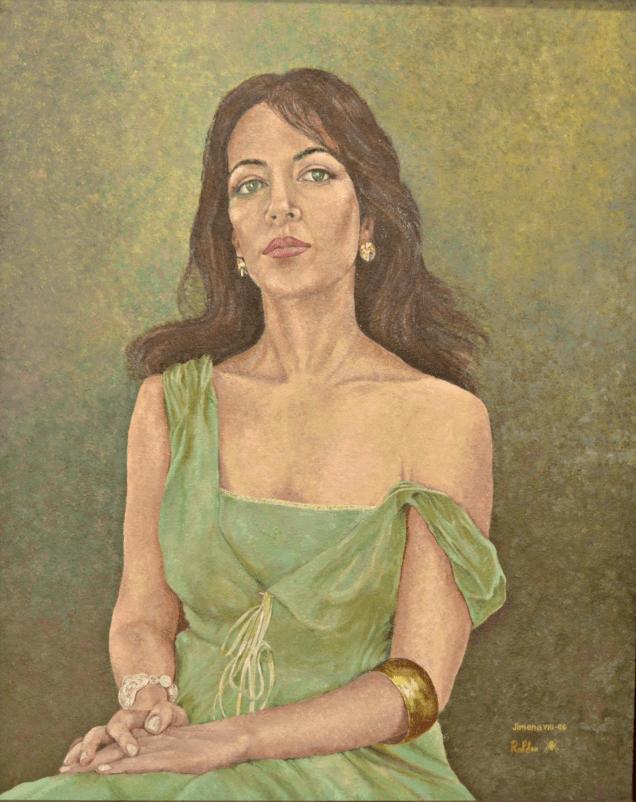 Johana en verde