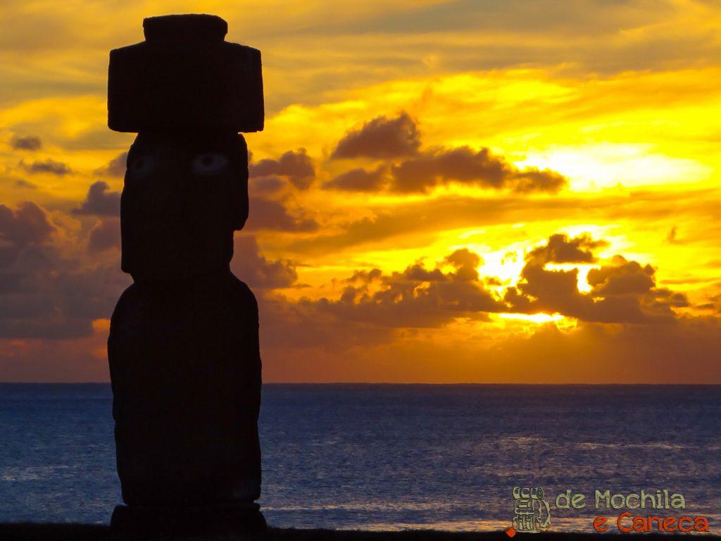 Por do Sol mais bonito da ilha de pascoa-2