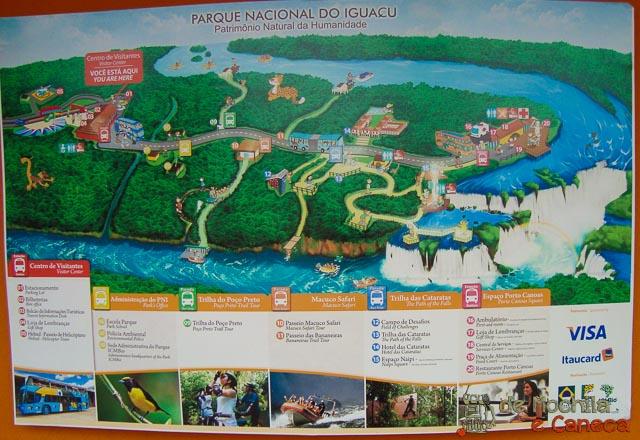 Mapa das Cataratas do Iguaçu