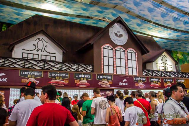 Oktoberfest de Blumenau - Comida alemã
