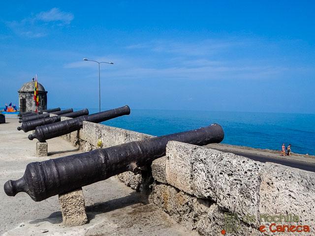 O que fazer em Cartagena - Muralhas