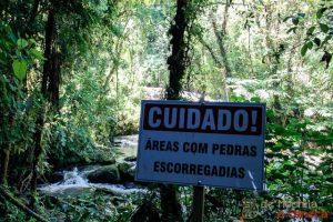 Rota das Cachoeiras-Sinalização das trilhas