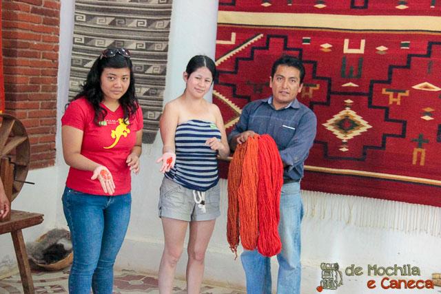 fábrica de tapetes em Teotitlán del Valle-15