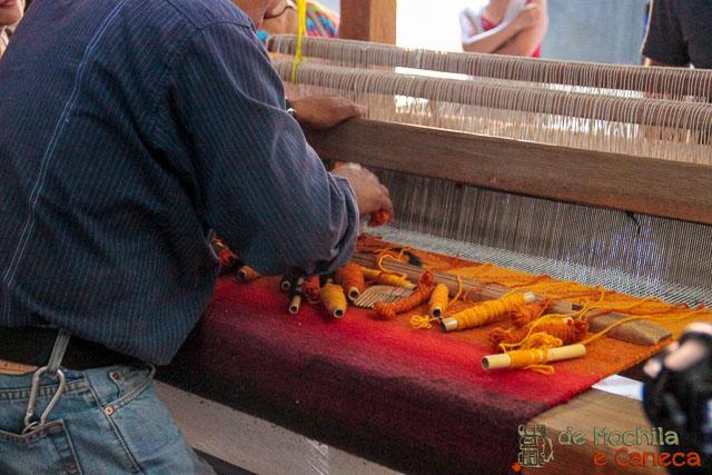 fábrica de tapetes em Teotitlán del Valle-20