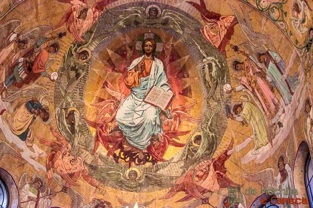 Catedral do Sangue Derramado-Detalhes dos Mosaicos