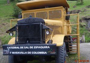 Catedral de Sal de Zipaquirá-Caminhão de sal