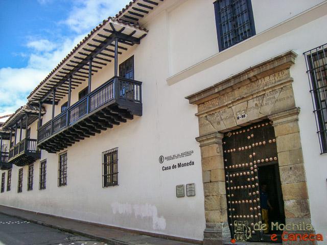 Centro Histórico de Bogotá-Casa da Moeda.