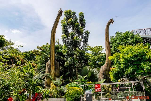 Parque Explora em Medellin-Parque dos Dinossauros.