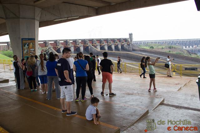 Usina Binacional de Itaipu pelo lado Paraguaio-Itaipu.
