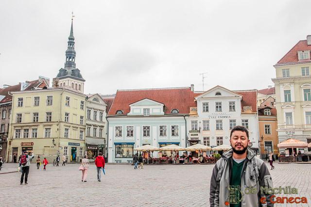 Centro Histórico de Tallinn-Praça Raekoja-Talin