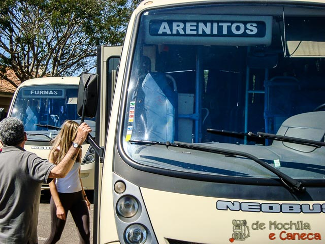 Parque Estadual de Vila Velha-ônibus