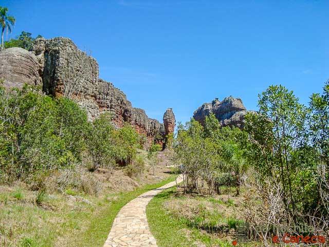 Parque Estadual de Vila Velha-trilha