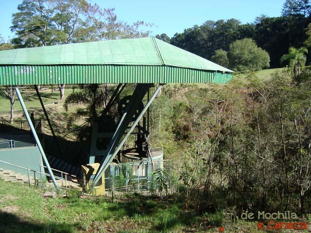 Parque Estadual de Vila Velha-Elevador desativado.