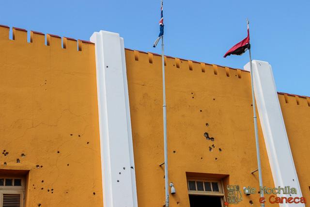 Santiago de Cuba-As marcas do ataque ao Cuartel Moncada.