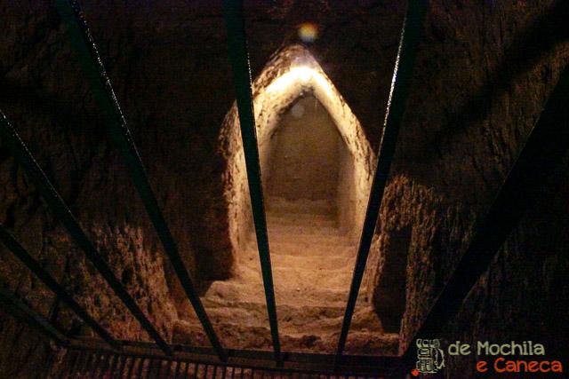 Grande Piramide de Cholula-túneis