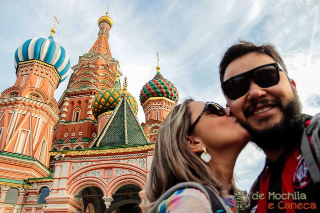 Praça Vermelh de Moscou-Catedral de São Basílio.