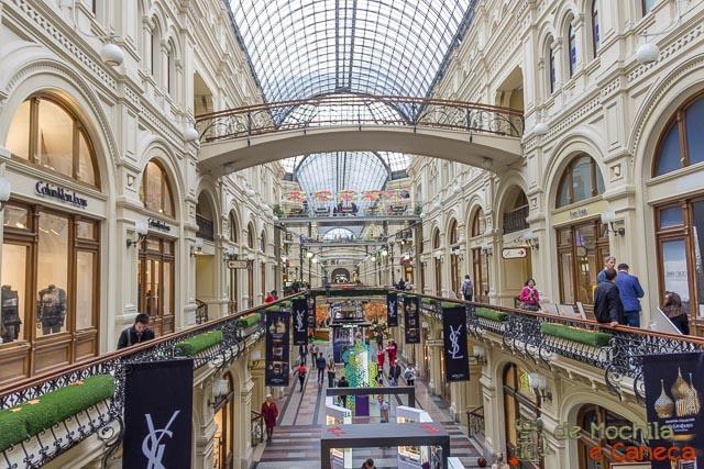 Praça Vermelha de Moscou - Shopping GUM.