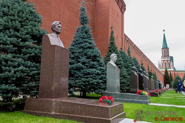 Praça Vermelha de Moscou - Necrópole da Muralha do Kremlin.