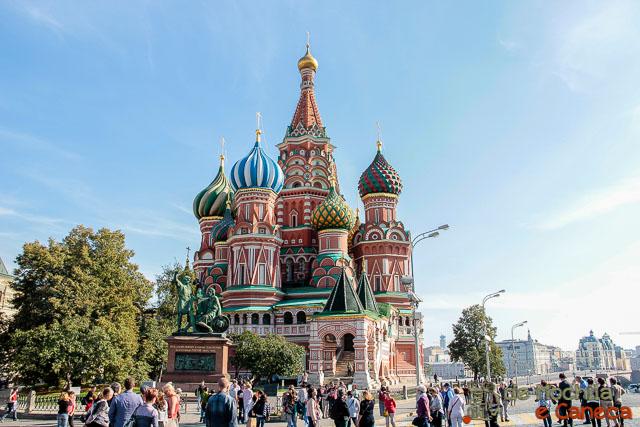 Praça Vermelha de Moscou -  Catedral de São Basílio