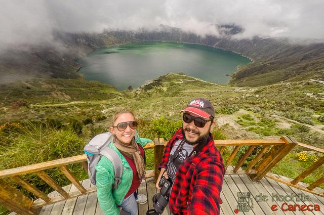 Vulcão Quilotoa - Lagoa Quilotoa-Mirante.