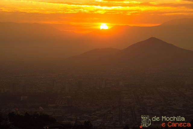 Sky Costanera - mais alto da América latina-pôr do sol