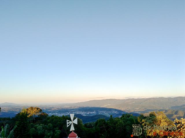 Vista panorâmica de Nova Trento e região.