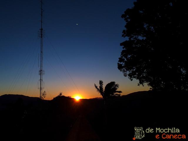 Pôr do sol a partir do Morro da Cruz.