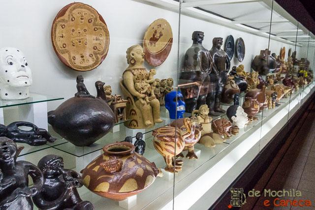 Variedade do acervo do Museu do barro.