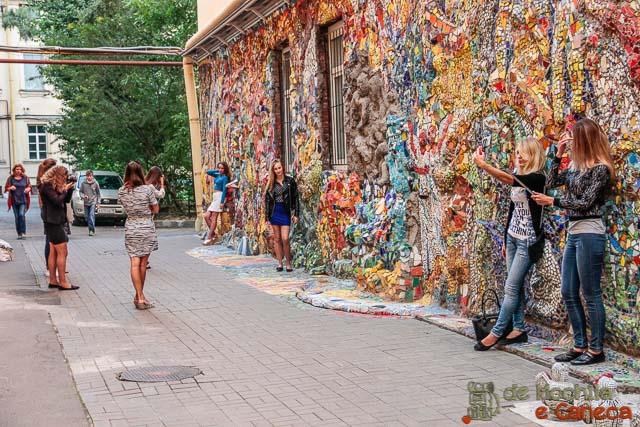 Selfies russas no Patio de Mosaico.
