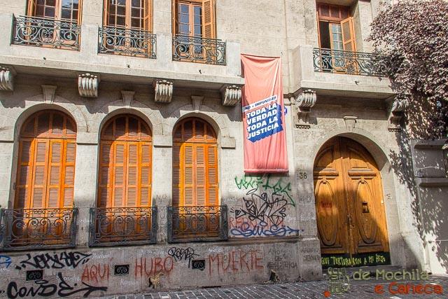 Espacio Londres 83, primeira casa utilizada pela ditadura chilena para torturar pessoas.