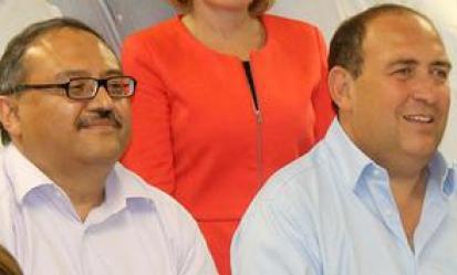 Rubén Moreira intenta promover la candidatura de David Aguillón para la alcaldía de Saltillo.