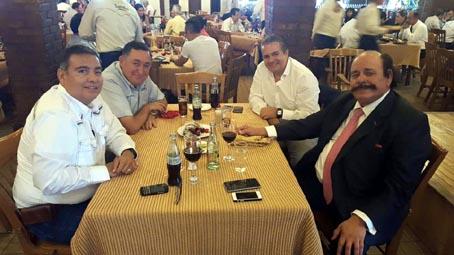 Son varias las reuniones de los aspirantes a gobernar Coahuila. En la gráfica aparecen Isidro López Villarreal, Lenin Pérez y Armando Guadiana Tijerina.